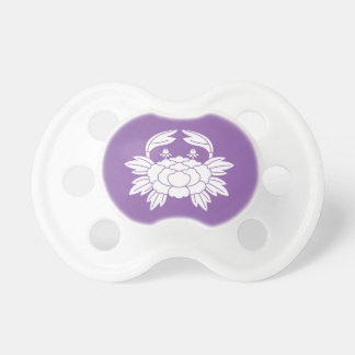Crab peony baby pacifier