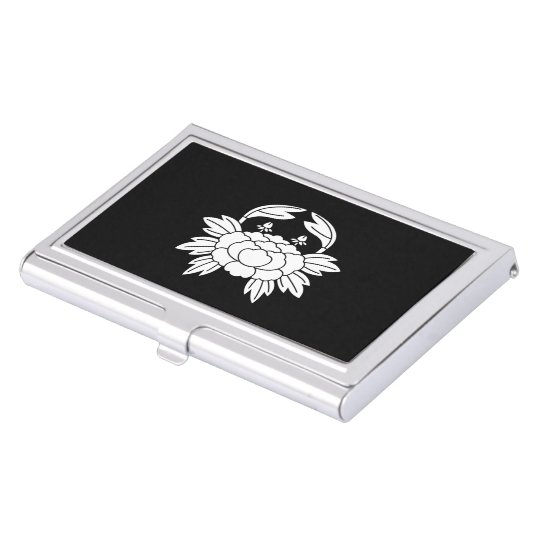 Crab peony case for business cards