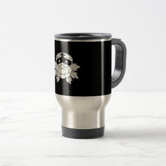 Crab peony travel mug