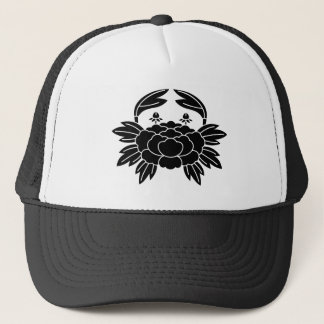 Crab peony trucker hat