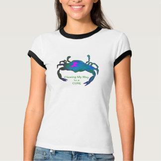 Crab Pink Ribbon T-Shirt Breast Cancer Awareness