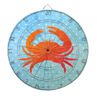 Crab-Polka-dot-Dart-Board-Summer Blues_Unisex Dartboard