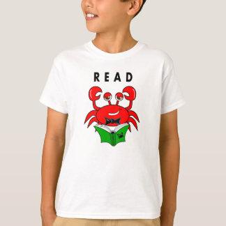 Crab Reading a Book t-shirt