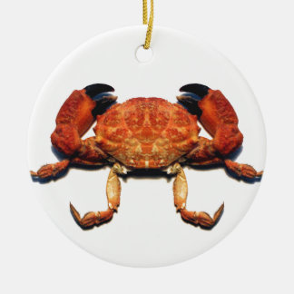 Crab Round Ceramic Ornament