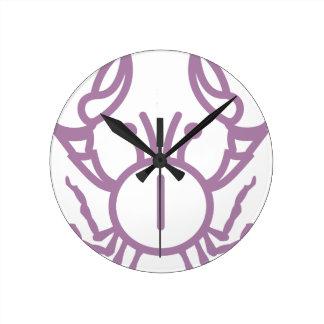 Crab Round Clock