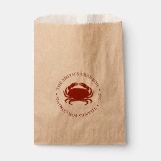 Crab | Seafood Boil Customizable Favour Bag