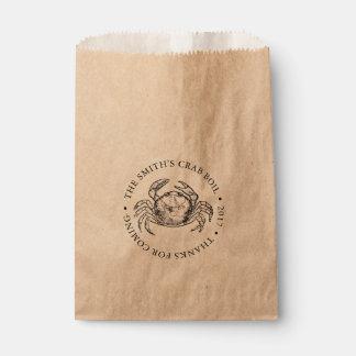 Crab | Seafood Boil or Bake Customizable Favour Bag