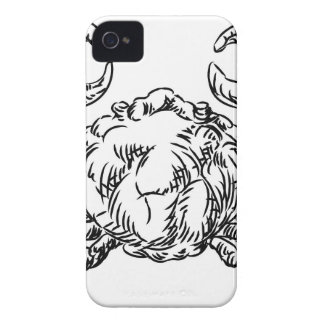 Crab Seafood Food Grunge Style Hand Drawn Icon iPhone 4 Cases