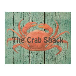 Crab Shack Wood Wall Art