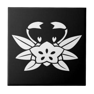 Crab-shaped gentian tile
