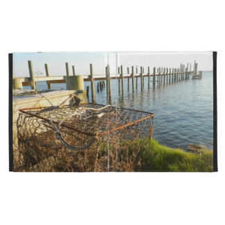 Crab Trap and Dock at Sunset iPad Folio Covers
