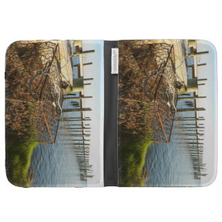 Crab Trap and Dock at Sunset Kindle 3 Covers