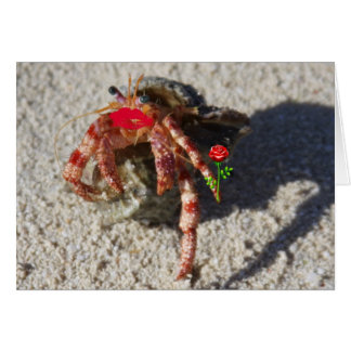 crab  valentine card