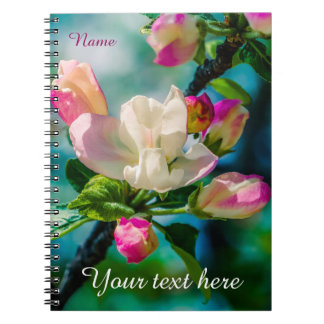 Crabapple flower and buds notebooks
