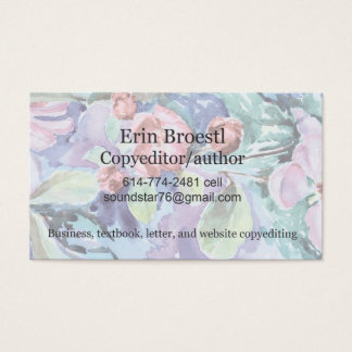 Crabapple Watercolor Business Card