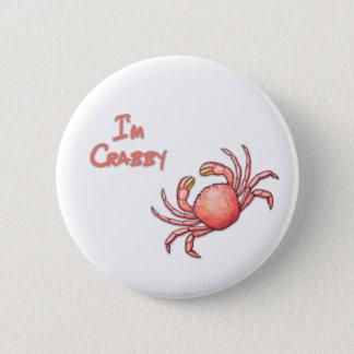 Crabby 2 Inch Round Button