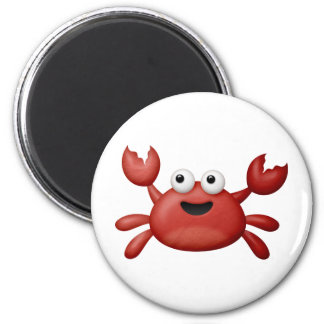 Crabby 2 Inch Round Magnet