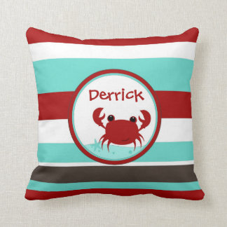 Crabby Buddy Personalized Boys Pillow