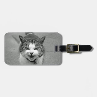 Crabby Cat Luggage Tag