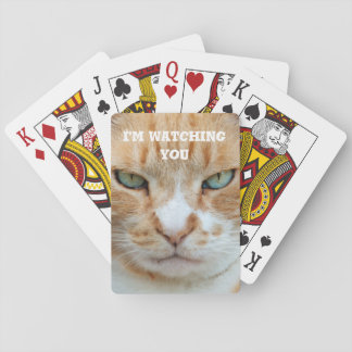 Crabby Cat playing cards
