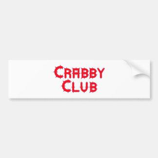Crabby club bumper sticker