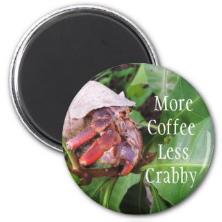 Crabby Coffee 2 Inch Round Magnet