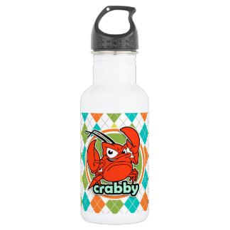 Crabby; Colorful Argyle Pattern