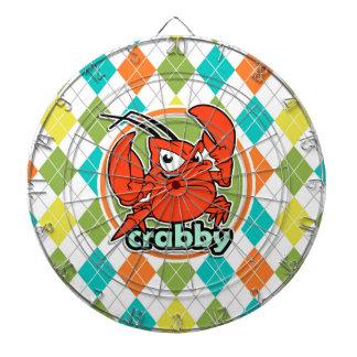 Crabby; Colorful Argyle Pattern Dartboards