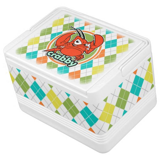 Crabby; Colorful Argyle Pattern Igloo Cooler