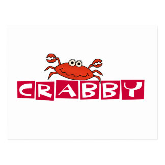 Crabby Crab Tshirts and Gifts Postcard