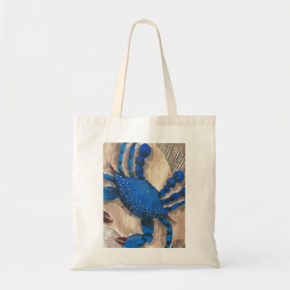 """Crabby Day"" Blue Crab Budget Tote"