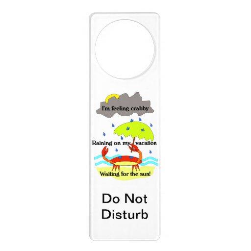 Crabby Day Haiku Do Not Disturb Sign Door Hangers