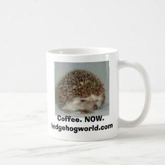 crabby hedgehog coffee mug