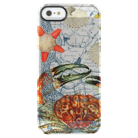 crabby map starfish clear iPhone SE/5/5s case