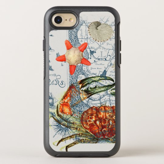 crabby map starfish OtterBox symmetry iPhone 7 case