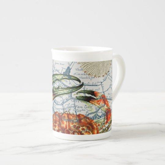 crabby map starfish tea cup