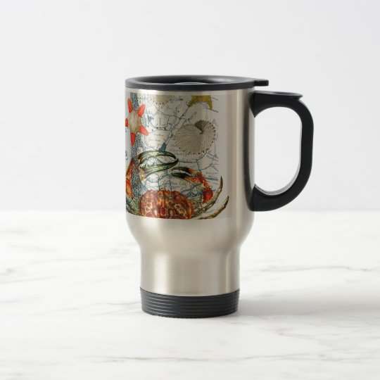 crabby map starfish travel mug