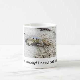 Crabby! Need coffee! Classic White Coffee Mug