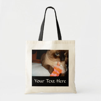 Crabby Siamese Cat Tote Bag