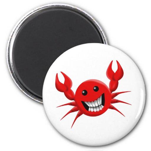 Crabby Smile Refrigerator Magnet