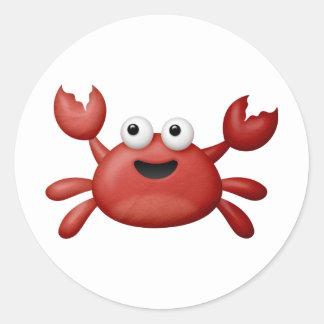 Crabby Round Sticker