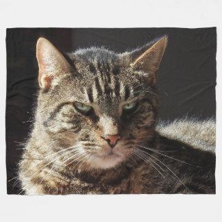 Crabby Tabby Cat Fleece Blanket