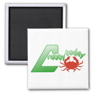 Crabby today square magnet