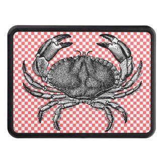 Crabe sur la couverture d'accroc de damier couvertures d'attelage de remorque