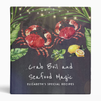 Crabs and Seafood Tropical Recipes Binders