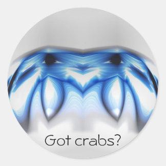 Crabs Classic Round Sticker