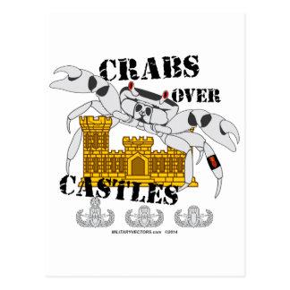Crabs over Castles Postcard