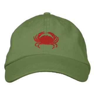 Craby Crab Embroidered Hat