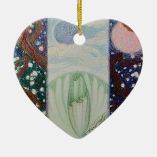 Crack In Clouds Ceramic Heart Ornament