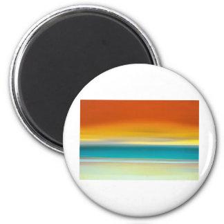 Crack of Dawn Digital Art by David Alexander Elder 2 Inch Round Magnet